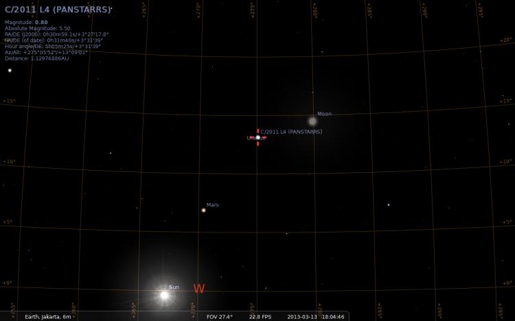 Pan-STARRS 13 Maret 2013