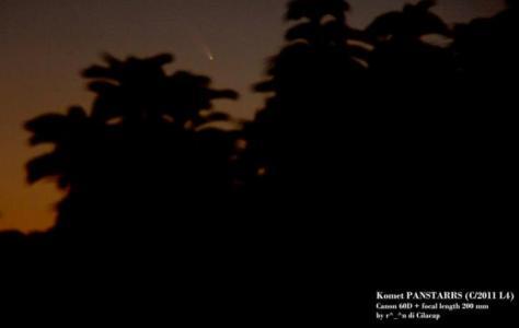 Komet Pan-STARRS yang berhasil diamati Penulis di Cilacap pada 7 Maret 2013